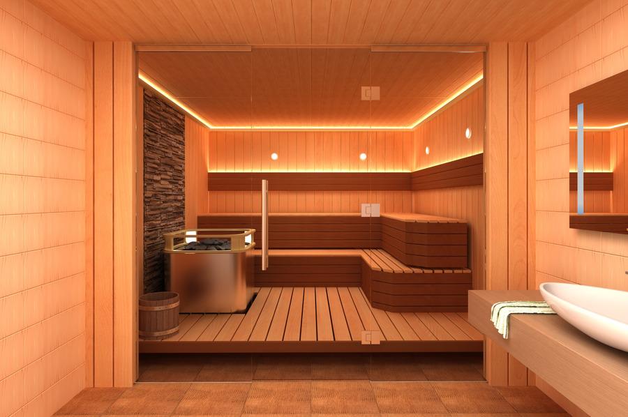 Фото перегородки в бане